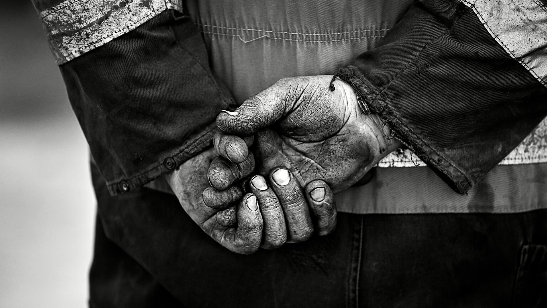 Christchurch Town Hall Mans Hands